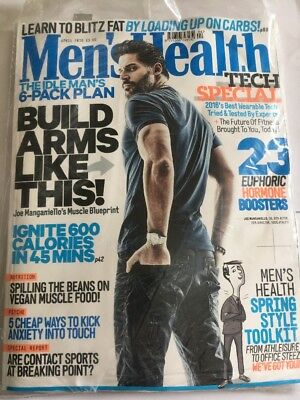 MEN'S HEALTH Magazine April 2016 - Joe Manganiello Cover Fitness Weightloss New