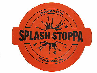 RED/ORANGE !!! Splashstoppa Light Weight Cement Mixer Lid Cover Cap Cleaning