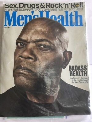 MEN'S HEALTH Magazine June 2016 - Samuel L Jackson Cover Fitness Weightloss New