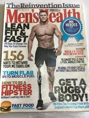 MEN'S HEALTH Magazine Oct 2015 - Jack Eyers Cover - Fitness Weightloss New