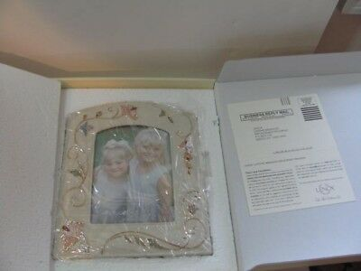 """NEW!! In Box Lenox Gilded Garden Picture Frame 5"""" x 7"""" Floral Scrolls"""