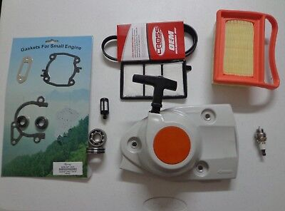TUNE UP AIR/FILTER KIT, belt, Starter Recoil , gakets, bearing  set  STIHL TS420