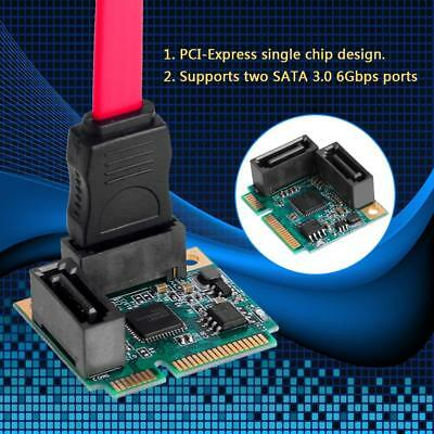 Mini PCI-E Express to 2 Ports SATA 3.0 Single Chip Expansion Adapter Card Set
