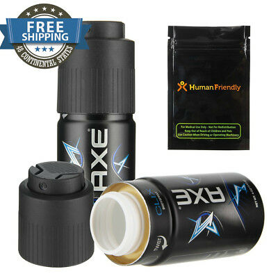 Axe Body Spray Diversion Safe Stash Can with Human Friendly Smell-Proof Bag New