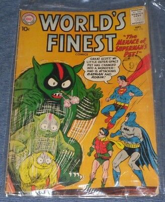 Worlds Finest 112# 1960 The Menace Of Superman's Pet ..a Great Collectors Issue!