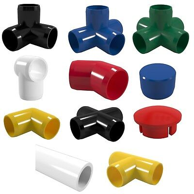 PVC Coloured Pipe & Fittings. Furniture Grade: Blue Red Black Green Yellow White