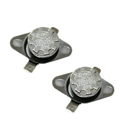 2Pcs//lot KSD301 N.C 80°C Thermostat Temperature Thermal Control Switch 10A 250V