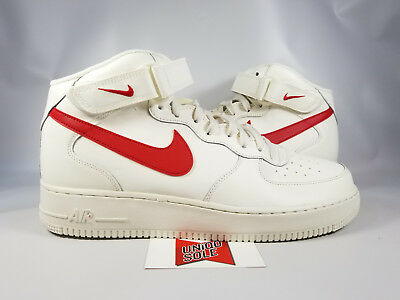 Af1 White 12 Red Off Air Sz 1 315123 University Nike 126 Force Mid Sail 9HIED2