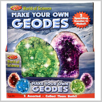 Geodes Make Your Own 2 Sparkling Crystals To Grow Includes All Items Needed