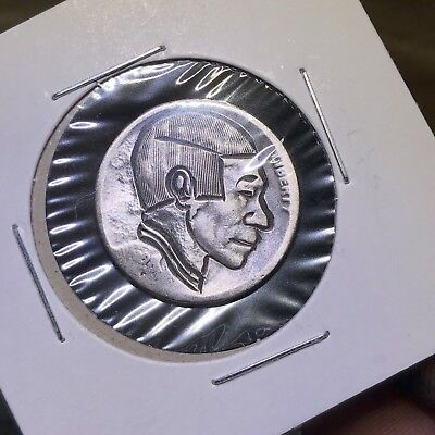 Hand Carved Uncle Bill Classic Original Hobo Nickel Coin Art