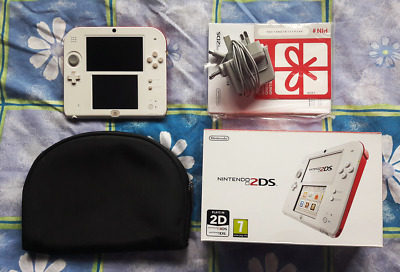 Nintendo 2DS White/Red PAL - Used, complete with box & case
