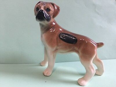Coopercraft Boxer porcelain dog figurine Made in England 1981