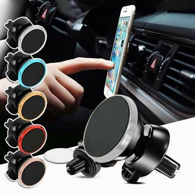 Car Magnetic GPS Phone Holder Stand Fit Air Vent Mount Various Colours Universal