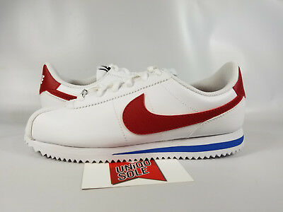 Nike Cortez GS FORREST GUMP WHITE RED BLUE 904764-103 sz 4Y 5.5w STRANGER THINGS