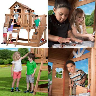 Backyard Discovery Scenic Heights All Cedar Playhouse