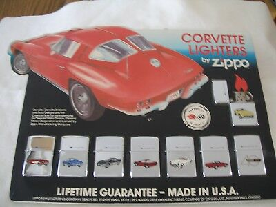 Zippo Lighter Corvette 40th Anniversary Set of 8