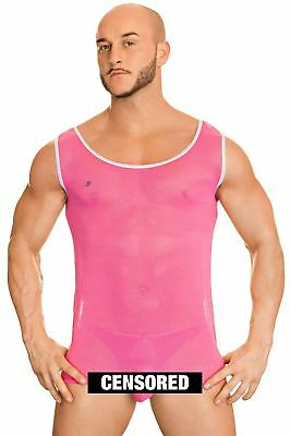 Joe Snyder Men's Sheer Mesh Tank Top 21 Semi Transparent Athletic Vest Top