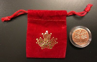 2017 Canada 150th Anniversary RCM Hand Struct Token With Red Mint Pouch