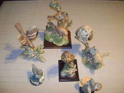 6 Figurines En Biscuit/platre Oiseaux - Bird Collection / Marie Caroline Ed. Etc