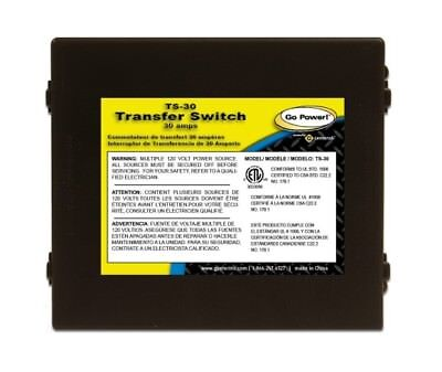 Go Power TS-30 30 Amp Automatic Transfer Switch