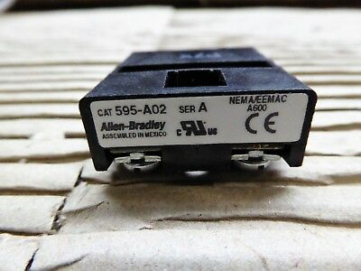 Allen Bradley Auxiliary Contact 595-A02
