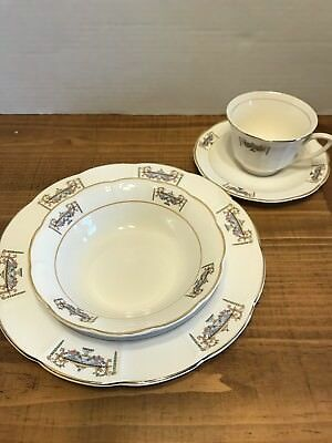 SEBRING PORCELAIN  NORMANDIE PATTERN 4pc Dish Set