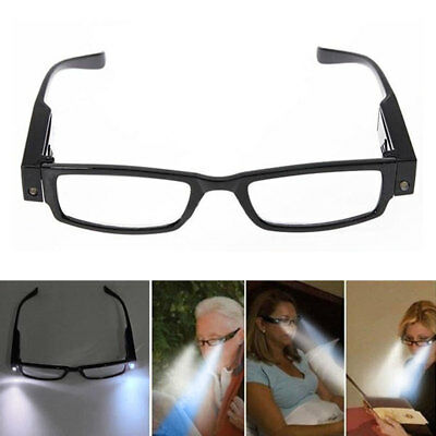 Rimmed Reading Eye Glasses Eyeglasses Bedroom Spectacal With LED Light Portable!