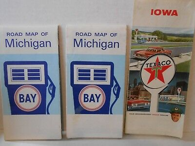 1964 Texaco and Bay Travel Maps(CIRCA 1970)