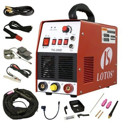 TIG/ Stick 200 Amp Welder TIG200-DC with Pedal Inverter Power Welding NEW