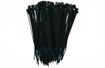 "25 - 2000pc 4"" to 48""  PREMIUM INDUSTRIAL BLACK WIRE CABLE TIE UV NYLON WRAP"