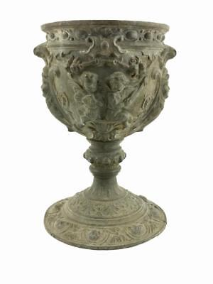 Rare Old Art Nouveau French Style Urn Ornate Antique Bronze Cast Large Chalice