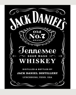Jack Daniels No 7 Tennessee Whiskey Metal Sign Vintage Bar Decor 12.5x16