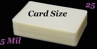 Card Size Laminating Laminator Pouches Sheets 25 pk 5 Mil 2-3/4 x 4-1/2  Sleeve