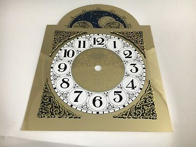 Clock Dial Metal Arabic Numerals Moon Arch Brass Finish