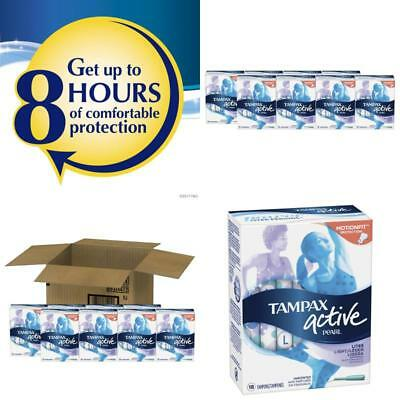 Tampax Pearl Active Plastic Light Absorbency Tampons Unscented Women Health Care