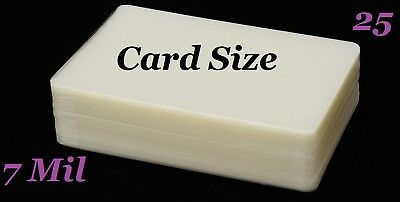 Card Size Laminating Laminator Pouches Sheets 25 pk 7 Mil 2-3/4 x 4-1/2 Sleeve