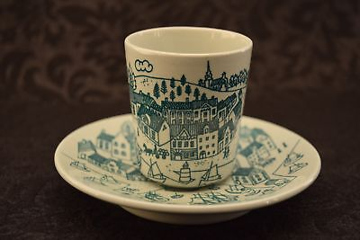 Scandinavian Nymolle Art Faience Hoyrup Danish Demitasse/Tea Cup and Saucer