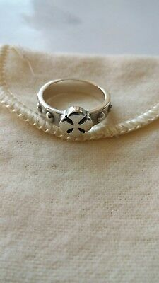 """James Avery Sterling Silver Cross Ring size .5.5"""" with Pouch"""