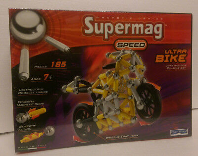 "Magnet Spiel SUPERMAG, Constructions-Set, Serie ""SPEED"",ULTRA BIKE, NEU!"