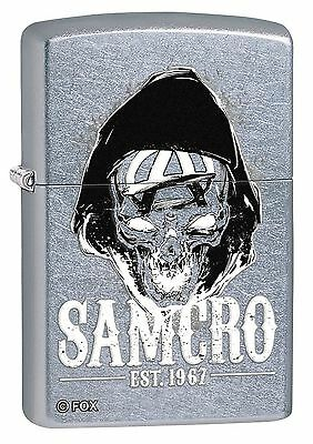 "Zippo ""Sons of Anarchy-SAMCRO"" Lighter, Satin Chrome, 5748"
