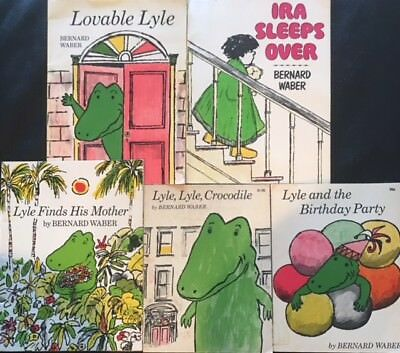Bernard Waber  PB Lot of 5 Vintage Lyle and the Birthday Party, Ira Sleeps Over