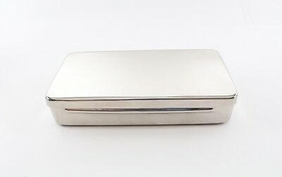 Medical Vet Tattoo Stainless Instrument Sterilization Tray Case W/ Lid Autoclave