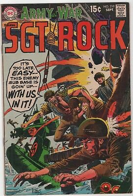 Our Army At War #210 In Very Good 4.0 Condition (Sept, 1969, DC)