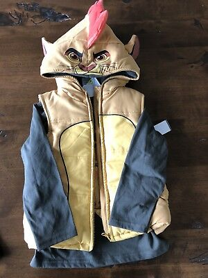 Disney's The Lion Guard L/S shirt & Vest with Hood & Ears Kion size 4 NWOT
