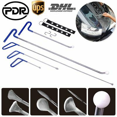 9pc PDR Tools Paintless Dent Repair Spring Steel Rods Body Dent Removal Hail Set