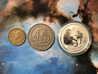 2016 Lunar Year Of The Monkey Silver Bu Coin With Old Coins??