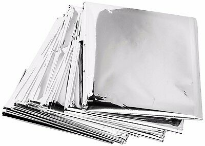 10 Pack Emergency Solar Blanket Survival Safety Insulating Mylar Thermal Heat
