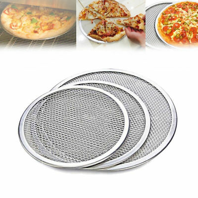 14inch Pizza Screen Mesh Oven Aluminum Round Seamless Baking