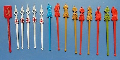 Lot of (15) Vintage TWA Swizzle Sticks / Int'l Countries, Save Connie, More