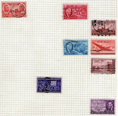 DMB Stamps - United States #3 -  Stamps on Album page from Old Collection - Used